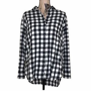 MADEWELL Oversized Plaid Flannel Top XS